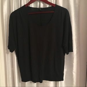 Express Essential Black Slouchy Top - Small